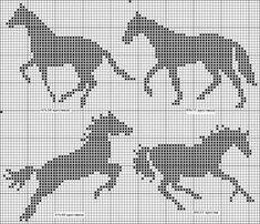 horse pattern / - Other - gabbach Cross Stitch Horse, Cross Stitch Animals, Cross Stitch Charts, Cross Stitch Designs, Cross Stitch Patterns, Filet Crochet, Crochet Chart, Knitting Charts, Knitting Patterns