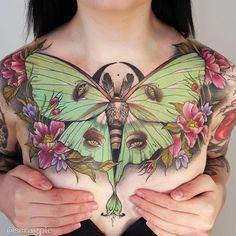 Sam Smith tattoo Outstanding chestpiece!