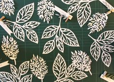 Inspiration: leaf paper cutting workshop by giochi di carta.