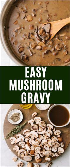 Easy Mushroom Gravy Vegetarian/Vegan Optional #mushroomgravy