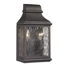 ELK Lighting 47070/2 Forged Jefferson Collection 2 Light Outdoor Sconce In Charcoal From Forged Jefferson Collection