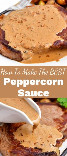 Sauce Recipes, Beef Recipes, Baking Recipes, Recipies, Peppercorn Sauce, Recipe Filing, Yummy Food, Tasty, Appetizer Recipes