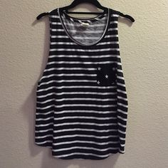 PINK Star and Stripes Like new. 60% cotton 40% polyester. Amazing condition. Make me an offer!! PINK Victoria's Secret Tops