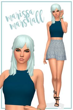 More CC links for my newest CAS video! You can watch me create Marissa on my YouTube channel here.  Genetics/Makeup  Hair // Eyelashes // Contacts // Skin 1 // Skin 2 // Blush // Eyeshadow // Lips  Outfit  Top // Skirt // Nails // Shoes // Bracelet //...