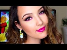Spring Smokey Eye with a Pop of Color + 2 Different Lips