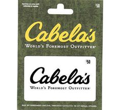 Enter to Win a $50 Cabela's Gift Card #giveaway @MaxwellsAttic @ http://swee.ps/pZZpnjaS