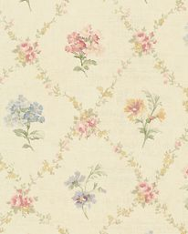 Americanblinds and wallpaper no longer offers wallpaper as part of it's product selection to shift it's focus on window treatments. Flower Wallpaper, Wall Wallpaper, Pattern Wallpaper, Brewster Wallpaper, Textiles, Inspirational Wallpapers, Cottage Living, Trellis, Shabby Chic