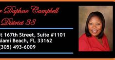 FL STATE SENATOR DAPHNE CAMPBELL MAKES HISTORY AGAIN! THIS PHENOMENAL SENATOR COMMEMORATES COMMUNITY LEADERS VIA STREET NAMES. -------------------------------- Senate Bill 368 Has Been Signed to Law  Miami Florida  June 16 2017 is a great day for many in Senate District 38. Senate Bill 368: Transportation Facility Designations was a bill that was co-introduced by Senator Campbell and has been signed into law. This will give honor to many who deserve it throughout the county. The bill called…