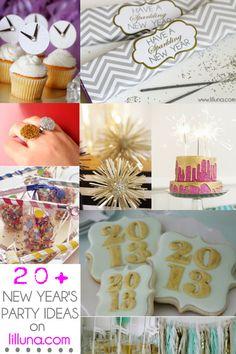 20+ New Year's Party Ideas on { lilluna.com } #newyears