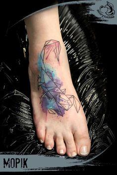 Watercolor Scorpion Tattoo by Szery Tattoo