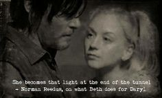 Norman on what Beth does for Daryl.