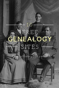 While Ancestry.com and other paid sites are certainly very valuable resources for genealogists, they are only a small part of the picture. There are so many more sites -- including these 10 free ones -- to explore! Free Genealogy Sites, Genealogy Research, Family Genealogy, Family History Book, Family Search, Interesting Information, Family Memories, Eccentric, Hobby Lobby