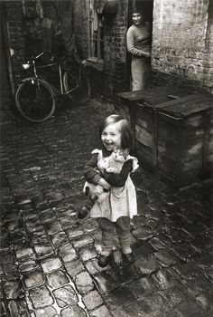 Jean-Philippe Charbonnier Girl and Cat, Roubaix, France, 1958-59