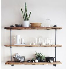 Preview Shelving Urban Industrial Iron Pipe Shelf scaffold board by Kitchenware-ar