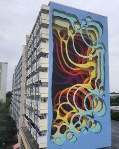 Street Art News Magazine: Something new from 1010 in Berlin, Germany - Street Art News, 3d Street Art, Street Art Graffiti, Street Artists, Art Furniture, Mural Art, Wall Art, Wall Murals, Urbane Kunst