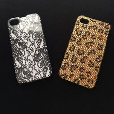 2 IPhone 4 covers  blk lace and cheetah rhinestone - Accessories