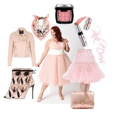 """""""pink dress III"""" by caroline-buster-brown ❤ liked on Polyvore featuring Giuseppe Zanotti, White House Black Market, Jane Norman, Aspinal of London, Ciaté, NYX, PerfectProm and plus size dresses"""