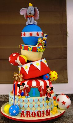 disney carnival cake.... This is amazingly awesome.