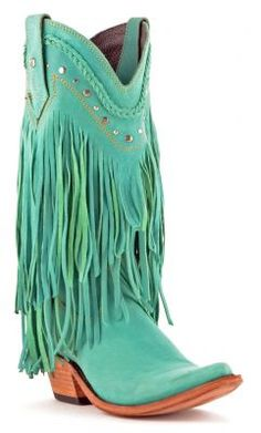 Liberty Black Vegas Turquoise Fringe Boots - The Lace Cactus http ...