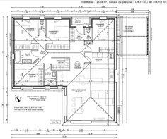 Plan 2D - Notre première maison 120m² -  4 chambres par Gouzo sur ForumConstruire.com