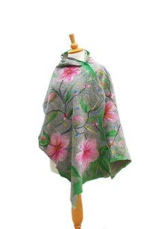 Felted+scarf+nuno+felt+scarf+merino+wool+shawl++felt+by+AnnaWegg,+£58.99