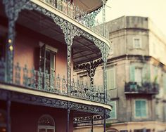 New Orleans Photography, Iron Balcony, Home Decor, Brown, Earth Tones, French Quarter, Southern Urban City - The Dream on Royal Street