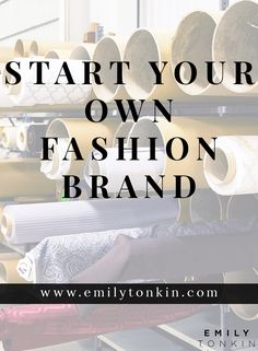 Coming soon, Emily Tonkin will teach you how to launch your own fashion brand and stay healthy while doing it.