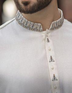 Stylish Junaid Jamshed Men's Kurta For Yr 2019 Styles for Semi formal Wear Indian Men Fashion, Mens Fashion Wear, Stylish Mens Fashion, Mens Designer Shirts, Designer Suits For Men, Designer Clothes For Men, Mens Wedding Wear Indian, Indian Wedding Clothes For Men, Gents Kurta Design