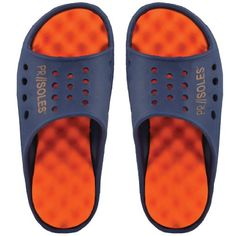 7f05b9be7 AwesomeNice PR Soles Recovery Sandals - Navy Orange (Womens) Shoe City