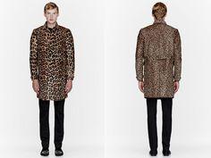 Burberry Prorsum Calf-Hair Leopard Print Sport Coat