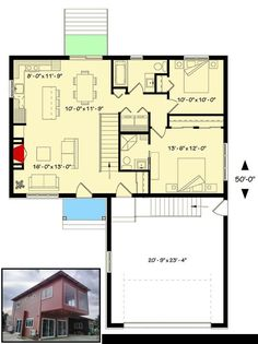 Container houses plans pdf and container and prefab house plans. Guest House Plans, 2 Bedroom House Plans, Cottage House Plans, Small House Plans, House Floor Plans, Basement Floor Plans, Basement Layout, Hells Kitchen, Small Cottage Homes