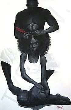 4 The Love of Back Women! African American Art, African Art, Natural Hair Art, Natural Hair Styles, Black Girl Art, Art Girl, Black Man, Arte Black, Black Art Pictures