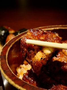 Hitsumabushi, grilled eel on rice, Nagoya, Japan ひつまぶし