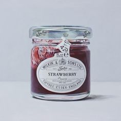 Single Serve Jam by Joel Penkman Joel Penkman, Food Illustrations, Illustration Art, Surface Design, Jar Of Jam, Strawberry Fruit, Food Painting, Food Drawing, Good Enough To Eat