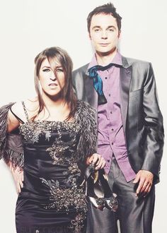 Jim and Mayim :)  whoa!