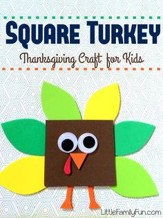 Cute Turkey craft! Fun and simple Thanksgiving Craft for kids!