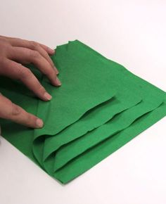 Christmas Tree Napkin Folding - Step 2