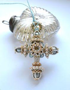 heather-beads: Beaded cross