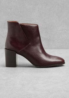 Clean-cut and comfortable, these leather ankle boots have a stable block-heel base which makes them a chic, go-everywhere shoe style.