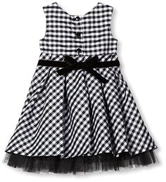 Youngland Baby Girls' long Sleeve Shrug Dress 3 Piece Set, Black/White, 18 Months
