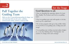 STEP TWO-- Pull together the Guiding Team:  8 step process to leading change