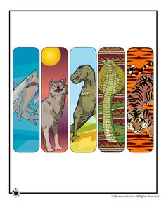 Printable Animal Bookmarks for Boys Bookmarks Diy Kids, Free Printable Bookmarks, Creative Bookmarks, Boy Printable, Printable Animals, Free Printables, Printable Book Marks, Reading Themes, Book Themes