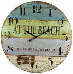 Life is Good at the Beach Wall Clock: http://ocean-beach-quotes.blogspot.com/2015/01/life-is-good-at-beach-wall-clocks.html