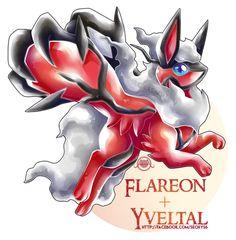 Flareon x Yveltal by Seoxys6.deviantart.com on @DeviantArt
