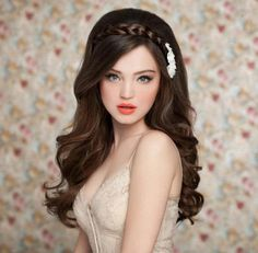 Cute Bridal Hairstyles for Long Hair #bridalhairstyles #weddinghairstyles