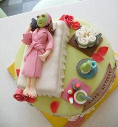 """Nothing says """"spa day"""" like. A spa day cake? Spa Party Cakes, Spa Cake, Spa Birthday, Birthday Cake, 40th Cake, Cupcakes, Cupcake Cakes, Beautiful Cakes, Amazing Cakes"""