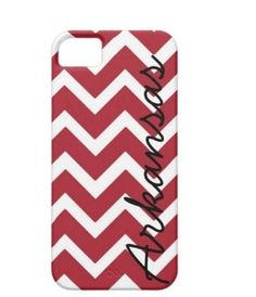 Arkansas Razorbacks Chevron Phone Case by AlyssaCreates on Etsy, $23.99