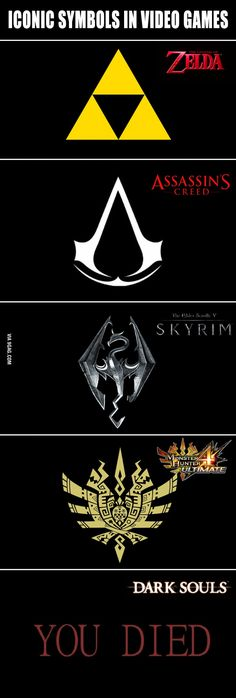 Iconic video game symbols