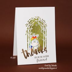 The Simon Says Stamp Monday Challenge is: thanks/thanks giving. For my card I used Gerda Steiner Designs stamps (moody unicorns and ch. Mama Elephant, Cards For Friends, Simon Says Stamp, Lawn Fawn, You're Awesome, Giving, I Card, Thank You Cards, Stamps