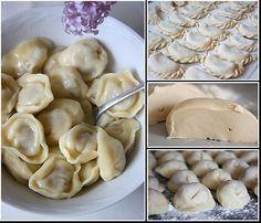 Universal brewing dough for dumplings, ravioli, chebureks Ukrainian Recipes, Russian Recipes, Good Food, Yummy Food, Saveur, Ravioli, I Foods, Food Inspiration, Cravings